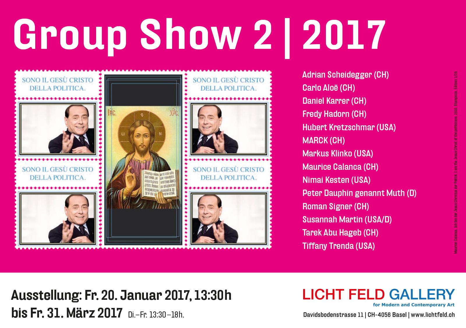 LICHT FELD GALLERY Groupshow #2 2017