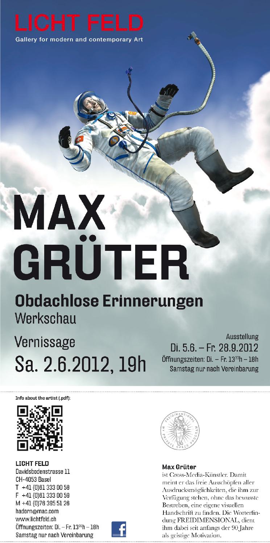 Max Grüter Exhibition @ Licht Feld Gallery